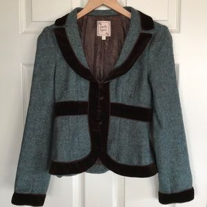 Nanette Lepore tweed wool jacket coat blazer 2 USA